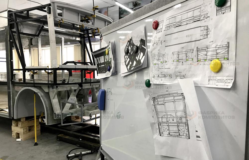 Процесс создания деталей экстерьера электробуса