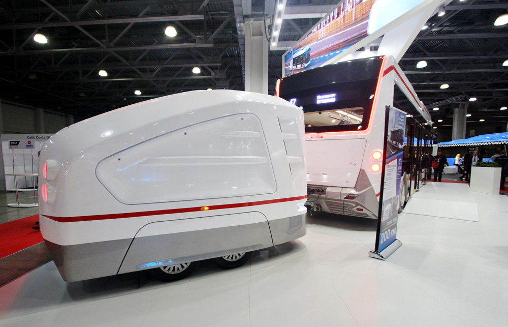 Электробус «ПИОНЕР» на выставке Busworld Russia
