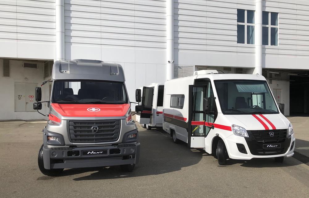 Спецавтомобили производства «Фабрика композитов» на форуме «Здоровое общество» в Сочи