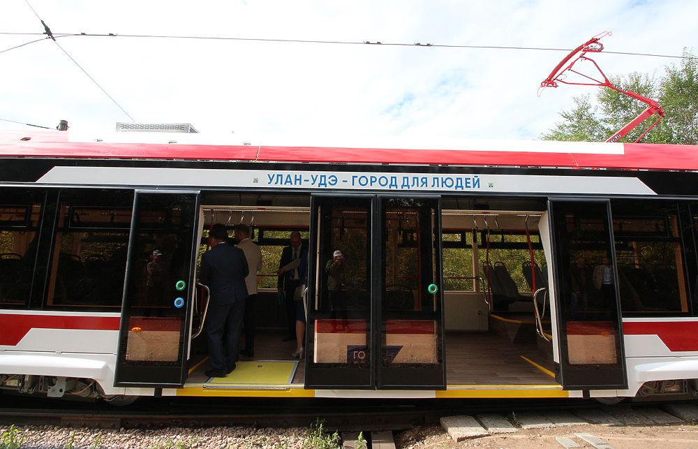 В Улан-Удэ запущен трамвай «Львенок»