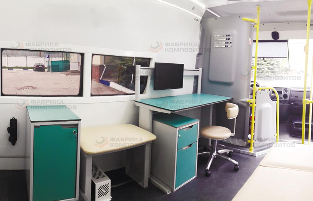 Рабочее место медицинского персонала в тягаче