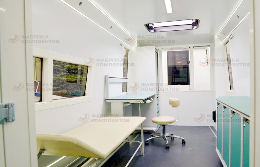 Рабочее место медицинского персонала в прицепе