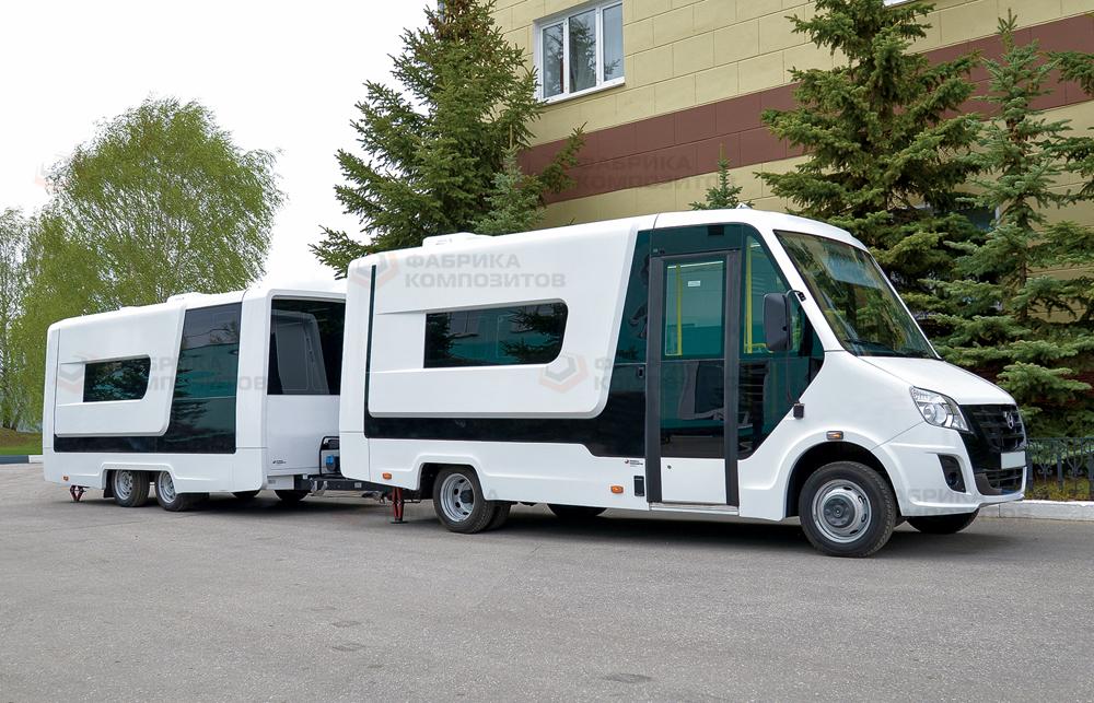 Прицеп-фургон в составе автопоезда
