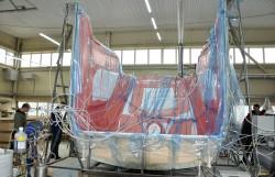 Процесс создания модуля кабины машиниста. Вакуумная инфузия