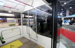 Электробус «ПИОНЕР» на выставке Busworld Russia. В салоне.