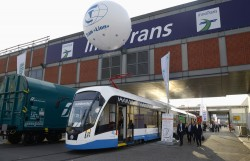 Трамвай 71-911 ЕМ «Лев» на выставке InnoTrans 2018