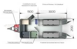 Схема салона прицепа-модуля