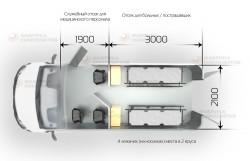 Схема салона автомобиля-тягача