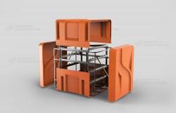 Модуль из стеклопластика для транспортировки баллонов с газом
