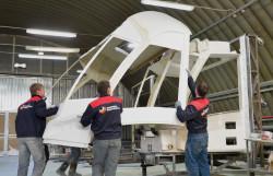 Процесс сборки модульной кабины водителя «Витязь-М»