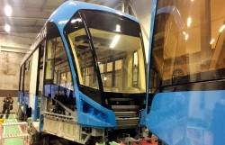 На линии серийной сборки трамвая «Витязь-М»