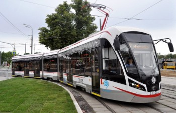 Трамвай Витязь-М. Выставка bauma CTT RUSSIA 2019