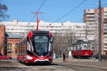 """Премьерный рейс трамвая """"Витязь-Ленинград"""""""