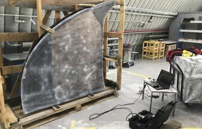 3D сканирование стекла задней кабины «Витязь-М»