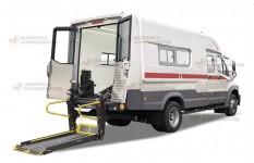 Подъемное устройство мобильного медицинского кабинета