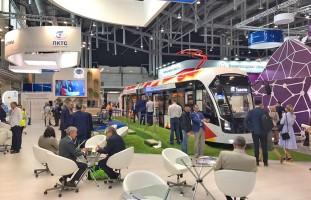 Трамвай «Богатырь-М» на выставке «Иннопром -2019»